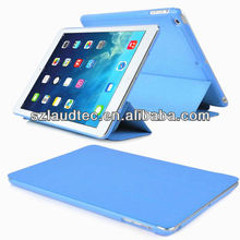 PU Leather Magnetic Smart Cover Skin+Rubber Hard Back Case Shell For iPad 5/air