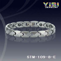 New Power Healthy Mens Silver 100% Pure Tungsten Magnetic Bracelet Balance Body, Jewelleries