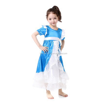 kids clothes blue satin princess dress pictures of latest gowns designs