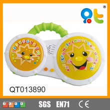 Musical Learning Toys Smile Face Electric Plastic Drum for Kids