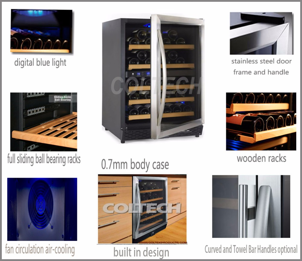 two zones built in wine cooler wine refrigerators manufacturer