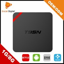 Amlogic S905 1GB RAM 8GB ROM KODI 16.0 quad core t95n andriod tv box