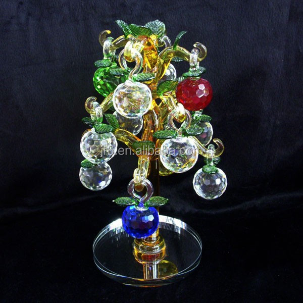 Colorful crystal apple tree for christmas ornament and decoration