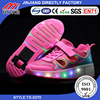 Kids Sneakers Girls Boys Unisex Fashion LED Shoes With Wheels Roller Skate Shoes