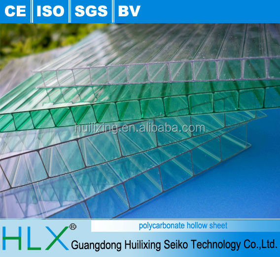 polycarbonate hollow sheet make in China for building material , green house