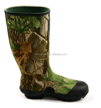 men camo hunting rubber boot,waterproof rain boot/hunting shoe covers