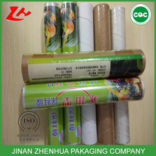 plastic packaging pe cling film pvc stretch film for food wrap