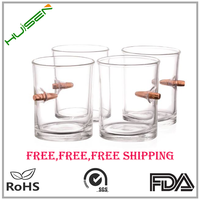 Promotional beautiful design real bullet shot glass cups wholesale