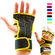 Real fabriek multicolor siliconen padding custom training/gym fintness handschoenen