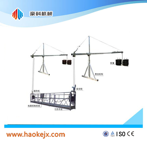 Temporary installed access equipment/ rope suspended platform