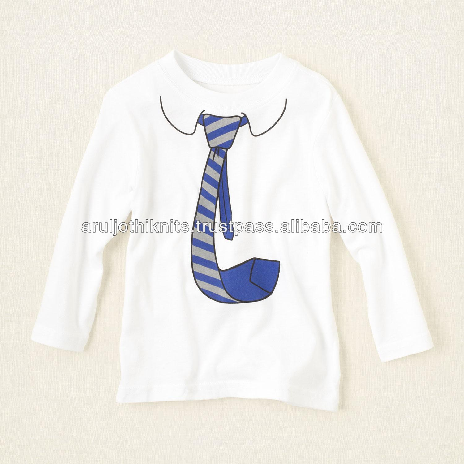 Design t shirt baby - Baby Boys Long Sleeve T Shirt With Tie Print Buy Funny Designs Boys Long Sleeve T Shirts Baby T Shirt Rubber Print T Shirts Product On Alibaba Com