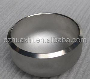 belved end stainless pipe cap JIS, ASME steel pipe fitting