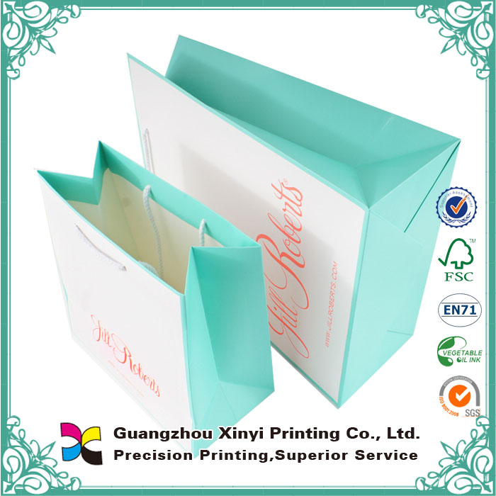 Manufacturing fancy christmas gift paper bag watermark paper printing