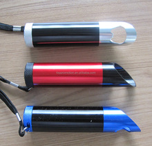 metal Aluminum 9 led torch with bottle opener