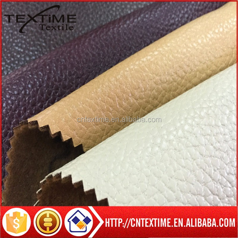 100% <strong>polyester</strong> embossed fabric for sofa fake leather