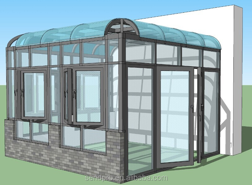 sunrooms/sun room/sunroom/Aluminum sunroom/glass roof price/ portable sun room, super quality and competitive price