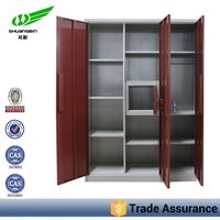 China manufacturer powder coated stainless steel clothes/storage almari