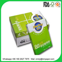 100% whiteness best price photo copy paper A4 80gsm for laser printing