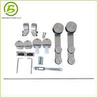 Sliding shower glass door accessories stainless steel barn door hardware