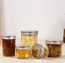 Wholesale lead-free hermetic caviar bottle jar, kitchen storage containers, honey, jam glass jar