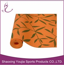 Logo printed fancy high resilient yoga mat with carry strap
