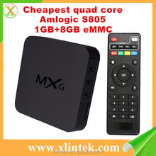 New Arrival Android 4.4 TV box MXG Kodi wifi Amlogic S805 quad core TV box