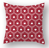 "Happy winter red snowflake Merry Christmas Cotton Throw Pillow Cover Decorative 18 ""x18'' Square Cushion Case"