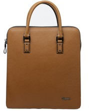 Hot wholesale elegant stylish western style genuine leather briefcase bags