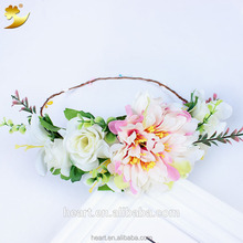 Manufacturer handmade flower decoration for hair wedding decoration party crown