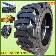 top seller pneumatic shaped solids, skid steer tires 10-16.5 with wheel