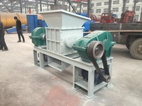 Environmental friendly 600 double shaft used tyre /plastic/ paper/steel shredder machine for hot sale