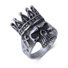 Cool Indian Headdress Gothic Cross Punk Grim Crown Ring Skull Stainless Steel Mens Boys Rings