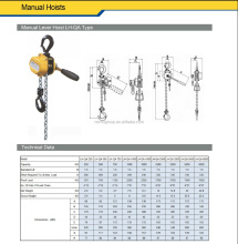 High Quality Ratchet Lever Chain Hoist/Lever Hoist