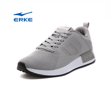 simple summer breathable plain red black grey school gym walking ERKE wholesale mens running shoes 2017