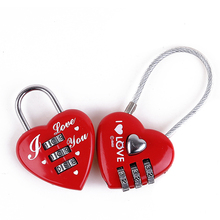 CH-28A Promotional cable lock red heart shape padlock