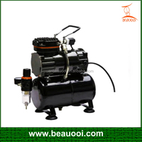 small portable single cylinder piston type airbrush compressor with tank