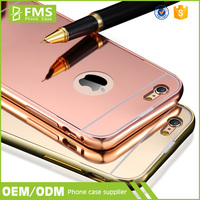 Luxury New Shining Phone Case Electro Plating Mirror Cases Back Cover For iPhone 5 5s in Silver Gold