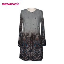 2016 Ladies Different Types of Dresses Women Paisley Print Clothing Ladies Dresses