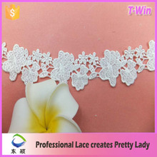 floral tulle lace trim/embroidered floral tulle lace trim/white embroidered floral tulle lace trim