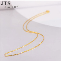 JTS Hot Sale 24K Gold Plated Copper Ingot Necklace Chain Jewelry New Design 45cm China Wholesale Jewelry XL322