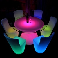 Luminous dining desk led furniture rgb light led bar table