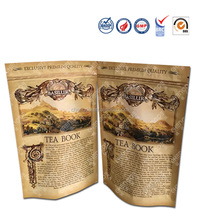 stand up zipper tea bag paper , food packaging pouch for tea