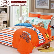 Alibaba professional printed bedding manufacturer 100% carded cotton stitching adult bed cover