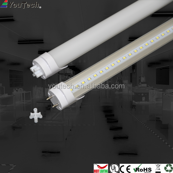 18w 1200mm t8 rgb led tube 100lm/w fluorescent light efficiency led light bulb
