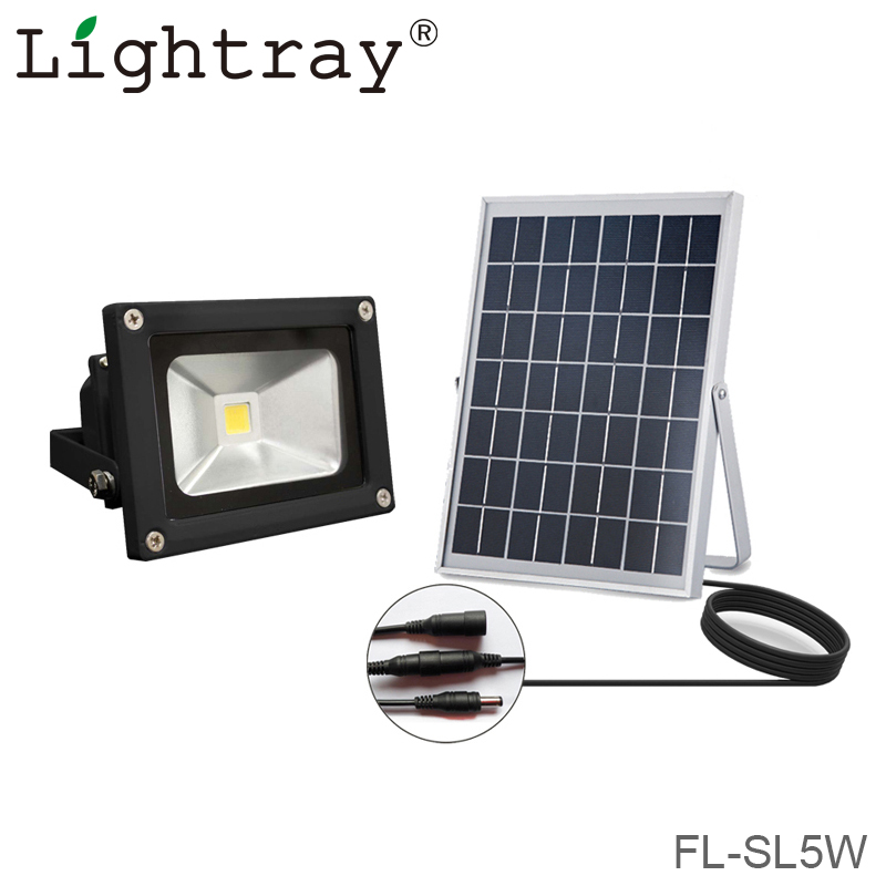 IP65 waterproof energy saving solar powered LED flood light 5w motion sensor security light garden spotlights ourdoor