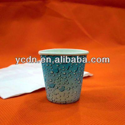 single wall hot drink paper cup 2oz tasting cup