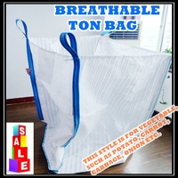 100% plastic 1000kg vegetable ton bag, breathable FIBC bag manufacturer