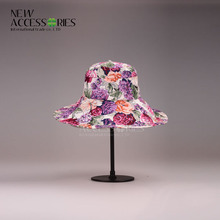 womans fashion flowery floppy foldable <strong>hats</strong>
