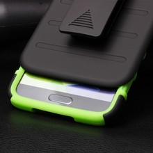 IN STOCK!Belt Clip Holster Rugged Hybrid Hard Stand Case For Samsung Galaxy S5 I9600 Mobile Phone Case