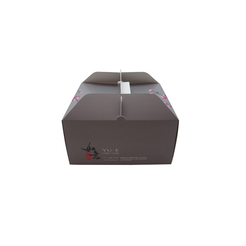 factory hot sale cake packing box custom design with handle